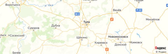 Тульская область на карте