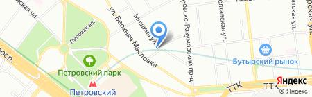 Кидидей на карте Москвы