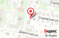Схема проезда до компании Хвостик в Подольске