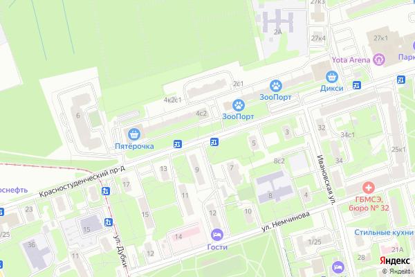 Ремонт телевизоров Красностуденческий проезд на яндекс карте