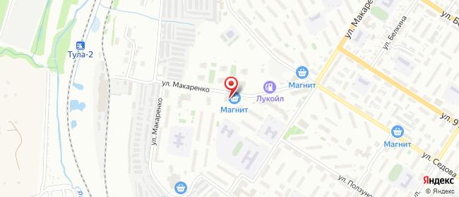 Карта расположения пункта доставки Тула Макаренко в городе Тула