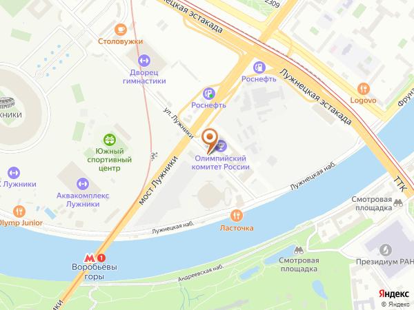 Остановка Стадион Лужники (южн.) (пос.) в Москве