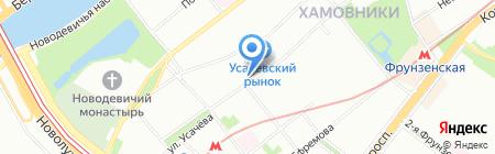 Солнышко на карте Москвы