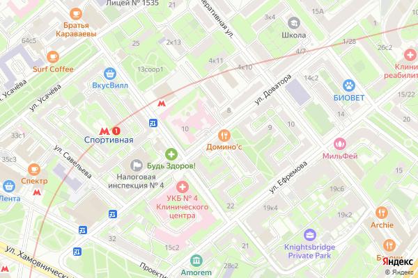 Ремонт телевизоров Улица Доватора на яндекс карте