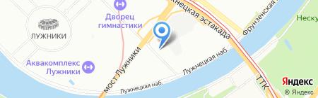 Российский союз спортсменов на карте Москвы
