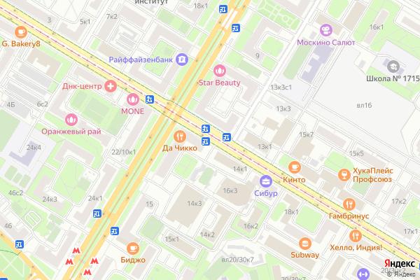 Ремонт телевизоров Улица Кржижановского на яндекс карте