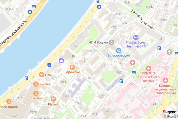 Ремонт телевизоров Большой Саввинский переулок на яндекс карте