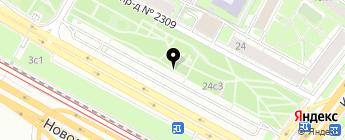 Автостоянка на карте Москвы