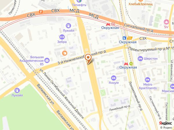 Остановка 3-й Нижнелихоборский пр. в Москве