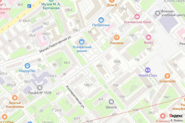 Ремонт телевизоров Улица Усачева на яндекс карте