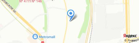 Банно-оздоровительный комплекс на Дубнинской на карте Москвы
