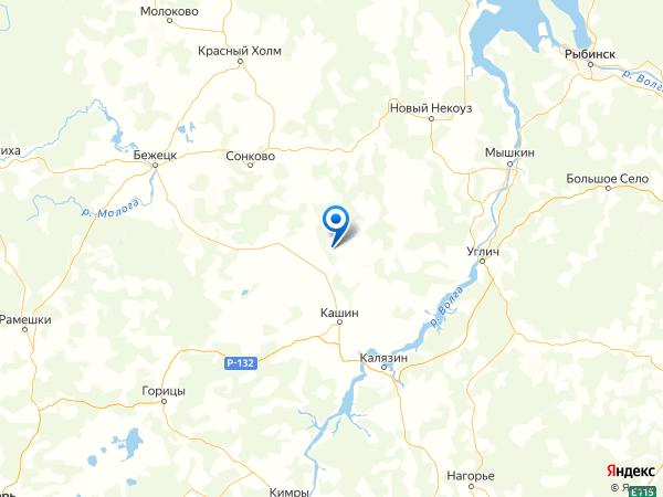 деревня Васьково на карте