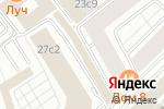 Схема проезда до компании Луч в Москве