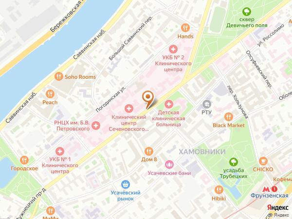 Остановка Трубецкая ул. в Москве