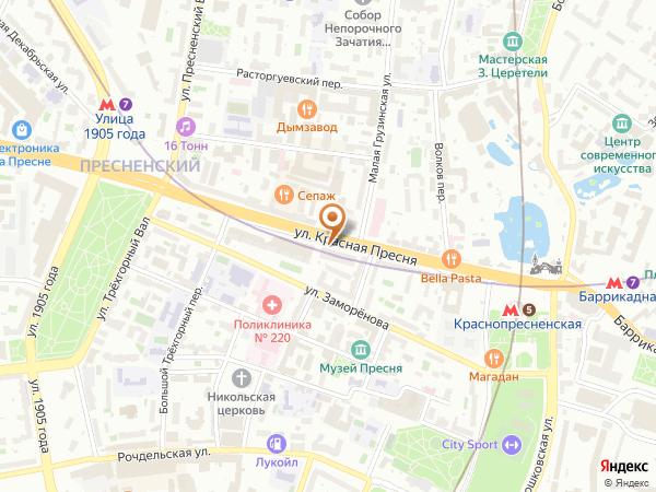 Остановка М. Грузинская ул. в Москве