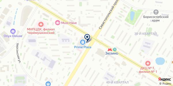 Магазин головных уборов на карте Москве