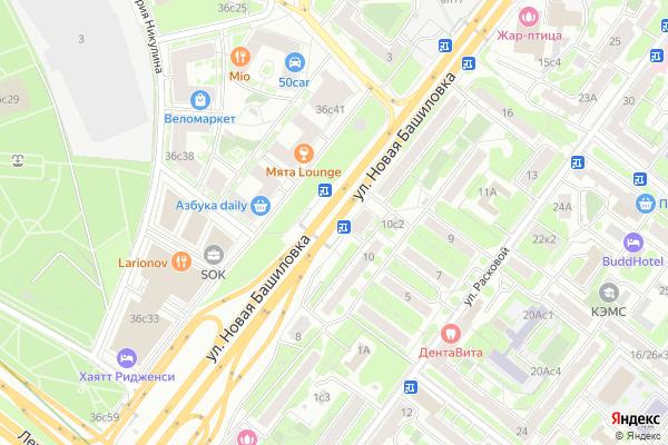 Ремонт телевизоров Улица Новая Башиловка на яндекс карте