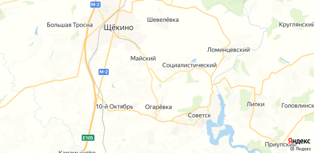 Мостовской на карте