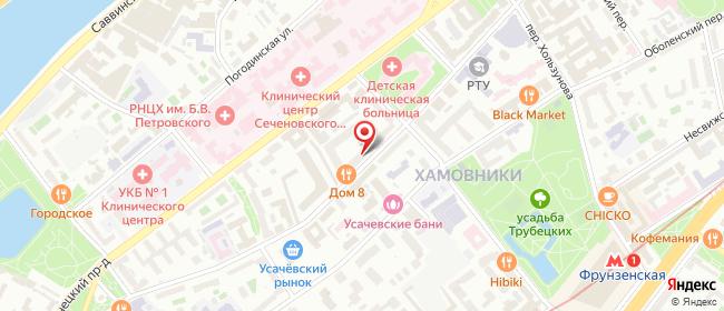 Карта расположения пункта доставки Москва Пироговская в городе Москва