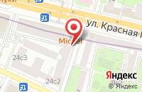 Схема проезда до компании Инсайд в Москве