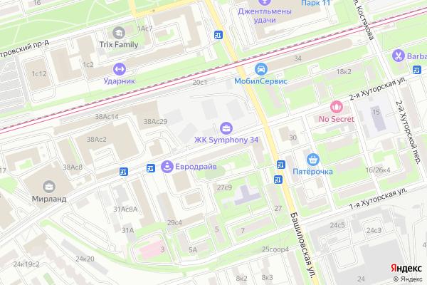 Ремонт телевизоров Улица 2 я Хуторская на яндекс карте