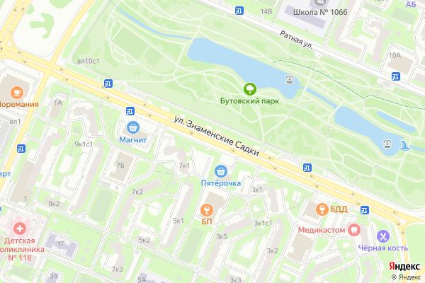 Ремонт телевизоров Улица Знаменские Садки на яндекс карте