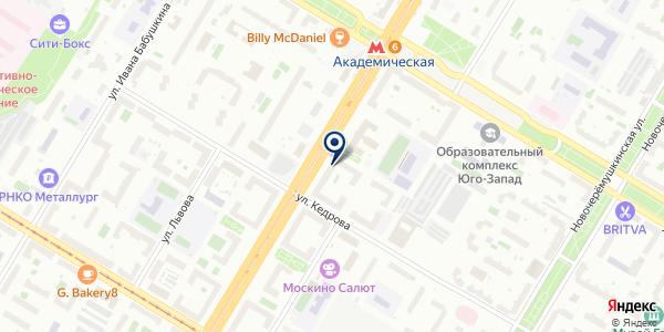 Мариэль на карте Москве