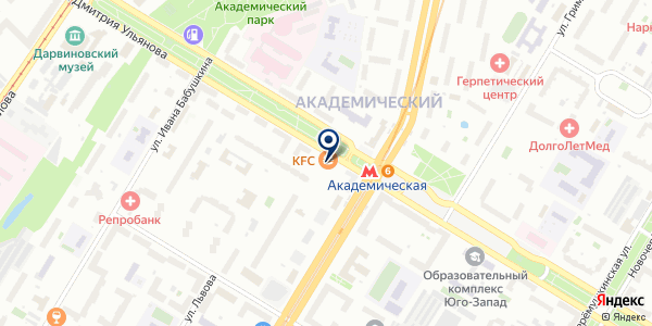 АКБ АЛЕФ-БАНК на карте Москве