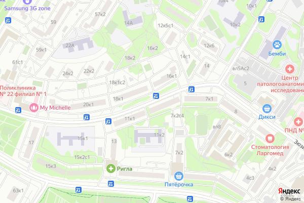 Ремонт телевизоров Улица Цюрупы на яндекс карте