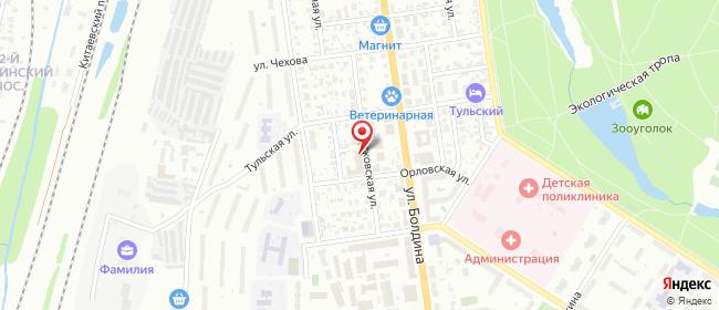 Карта расположения пункта доставки Халва в городе Тула