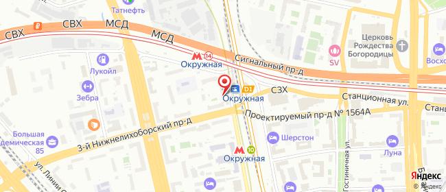 Карта расположения пункта доставки Москва Локомотивный в городе Москва