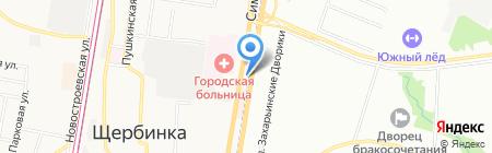 Эконом на карте Москвы