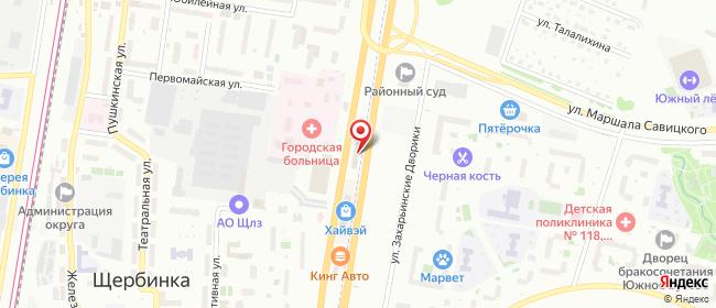 Карта расположения пункта доставки Халва в городе Щербинка