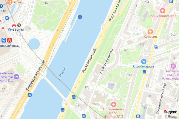 Ремонт телевизоров Ростовская набережная на яндекс карте