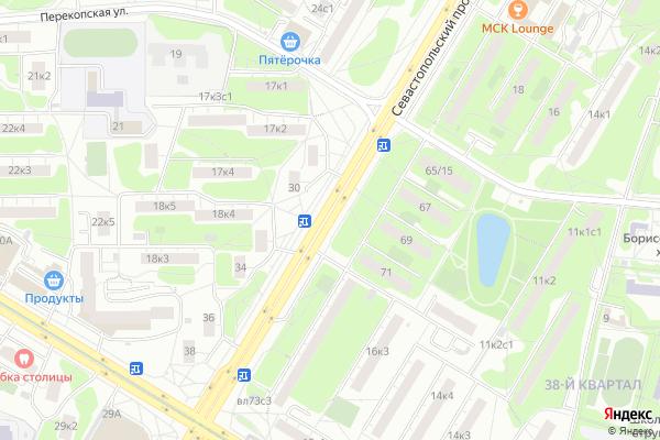 Ремонт телевизоров Севастопольский проспект на яндекс карте
