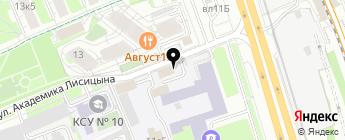 Сеть мастерских по ремонту автостекол на карте Москвы