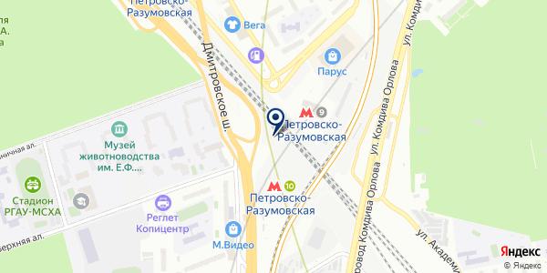 СУПЕРМАРКЕТ ВЕРОНА на карте Москве