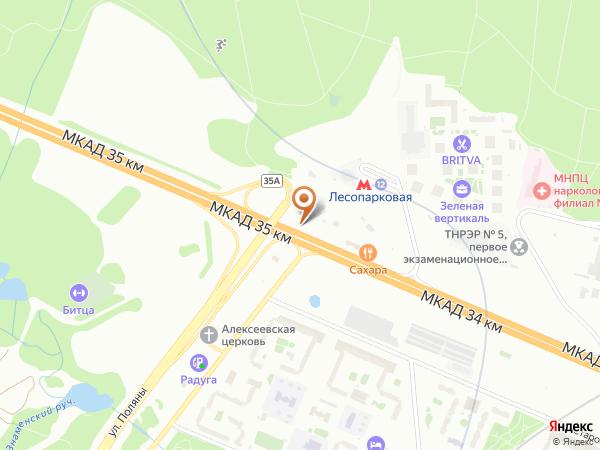 Остановка «Северное Бутово», 35-й километр Московской Кольцевой Автодороги (8055) (Москва)