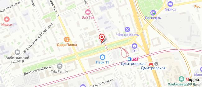 Карта расположения пункта доставки Москва Дмитровский в городе Москва