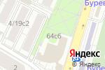 Схема проезда до компании Плющиха 64 в Москве
