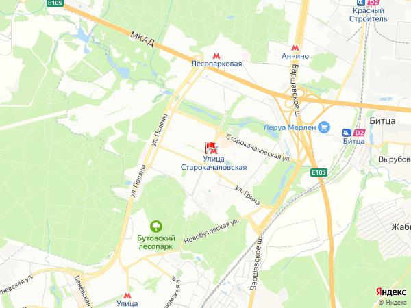 Карта район Северное Бутово