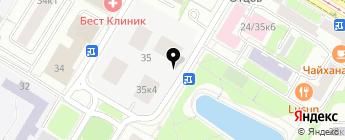 Автостоянка №211 на карте Москвы