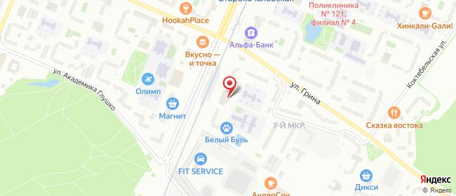 Карта расположения пункта доставки Москва Дмитрия Донского в городе Москва