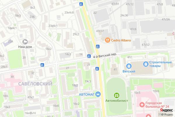 Ремонт телевизоров 4 й Вятский переулок на яндекс карте