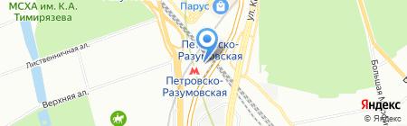 Источники света на карте Москвы
