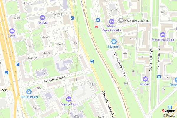 Ремонт телевизоров Локомотивный проезд на яндекс карте