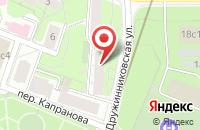 Схема проезда до компании Юрфин в Москве