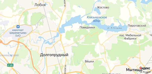 леспаркхоза Клязьминский на карте