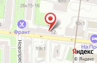 Схема проезда до компании Архпроект в Москве