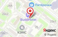 Схема проезда до компании Креативное агентство  в Москве
